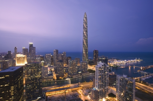 Chicago Spire in 'Top 9 Fantastic Architectures over the World': ranks ?