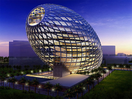 Cybertecture Egg Building in 'Top 9 Fantastic Architectures over the World': ranks ?