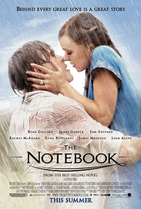 The Notebook in 'Top Tragedy Movies in the World': ranks 8