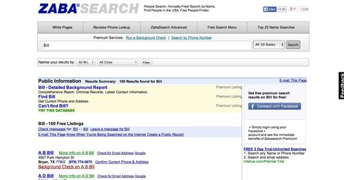 Zabasearch in 'Best People Search Engines': ranks ?
