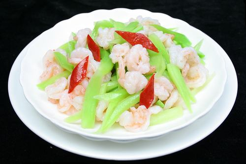 Shrimp with Green Vegetables in 'Best Chinese Foods/Cuisines': ranks 7