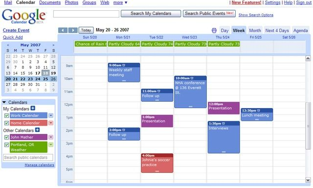 Google Calendar in 'Best Calendar Software 2013': ranks ?